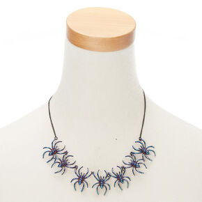 Anodized Spider Necklace,