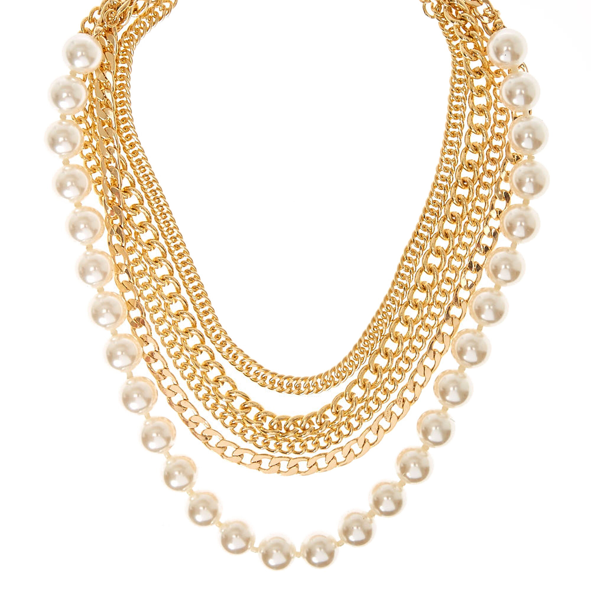 statement stella necklace eve p dot pearl bib sparkly chunky