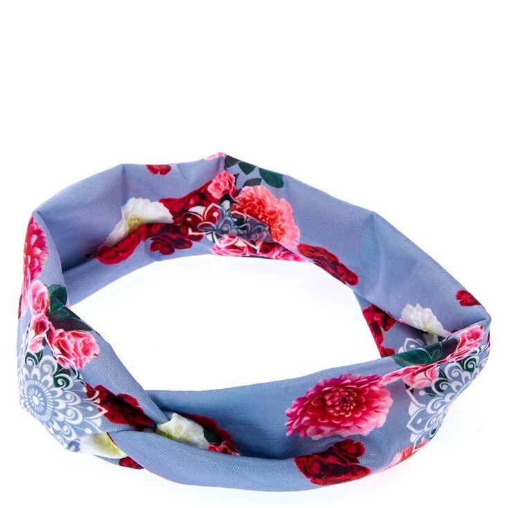 Mandala Roses Twisted Headwrap,