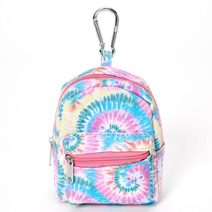 Rainbow Tie Dye Mini Backpack Keychain,
