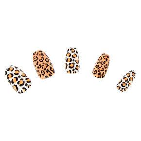 Leopard Coffin Faux Nail Set - 24 Pack,