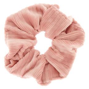 Ribbed Velvet Hair Scrunchie - Pink,