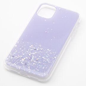 Lavender Glitter Star Liquid Fill Phone Case - Fits iPhone 11,
