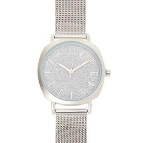 Silver Mesh Classic Watch,