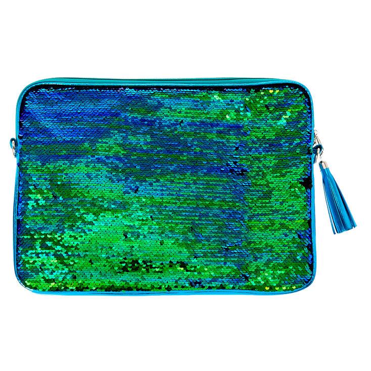 Turquoise Reverse Sequin Laptop Sleeve,