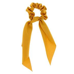 Satin Scarf Hair Scrunchie - Mustard,