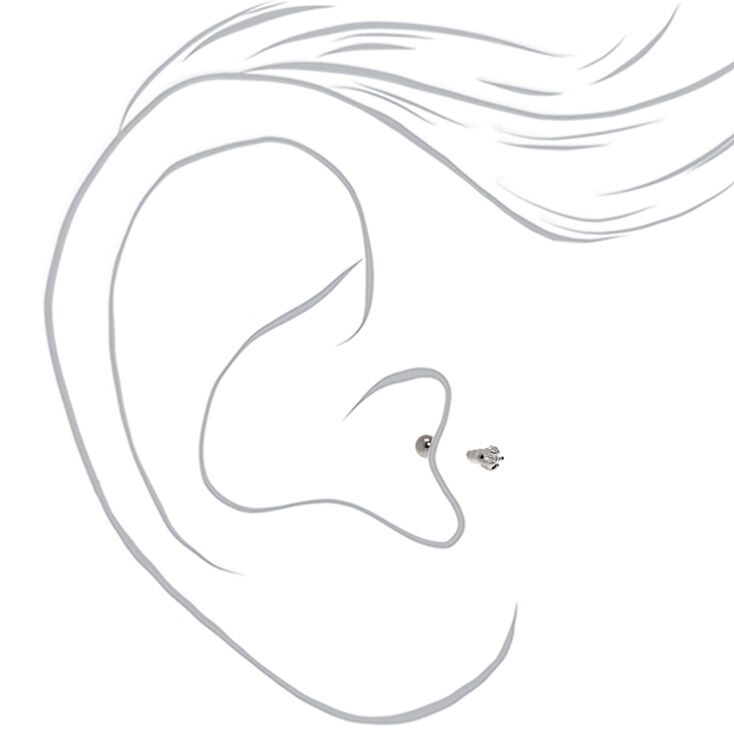 Silver 16G Star Tragus Stud Earring,