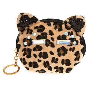 Fancy Fur Cat Coin Purse - Leopard,