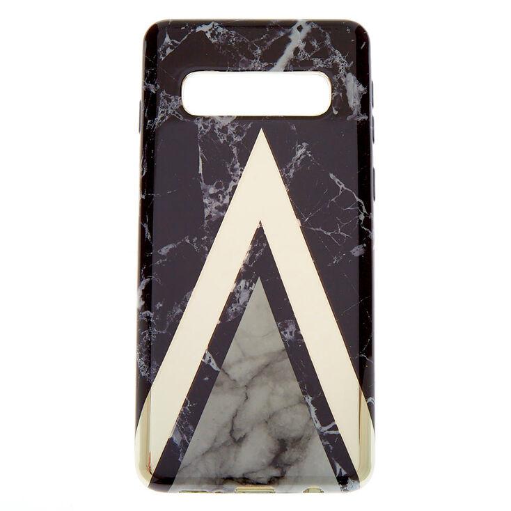 Black Geometric Marble Phone Case - Fits Samsung Galaxy S10,
