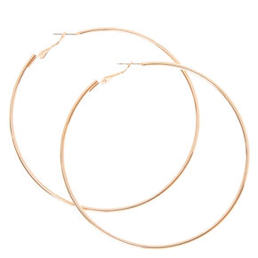 75MM Thin Rose Gold Hoop Earrings,