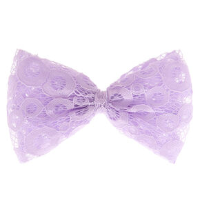 Lilac Purple Lace Bow Hair Clip,