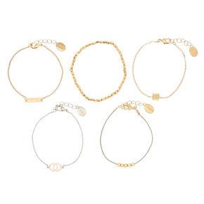 Geometric Charm Bracelet Set,