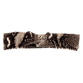 Snakeskin Twisted Headwrap - Gray,