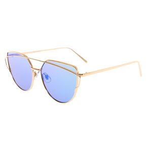 Gold Round Cateye Sunglasses,