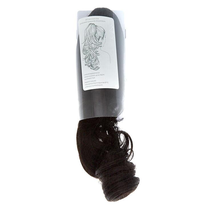 Faux Hair Ponytail Hair Claw - Black,