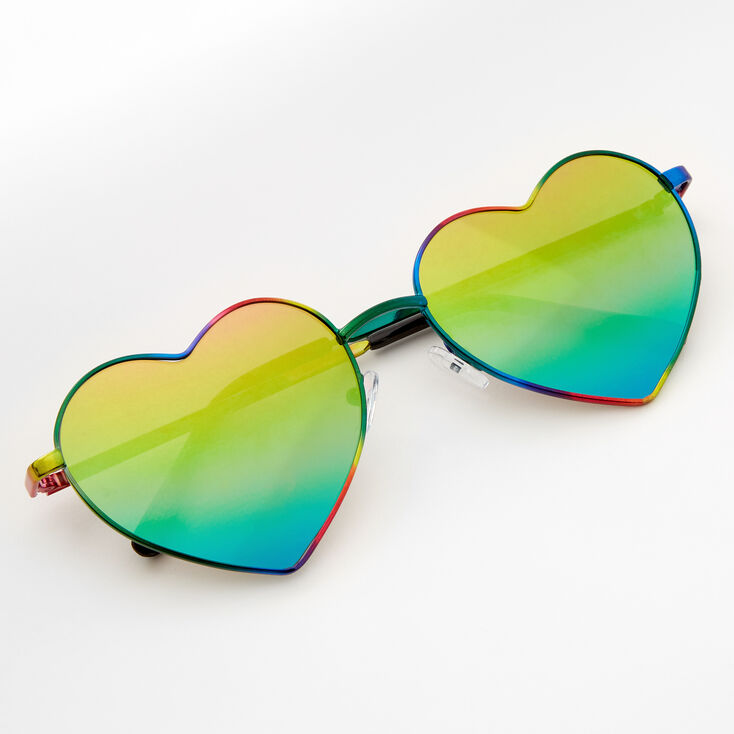 Rainbow Anodized Heart Sunglasses,