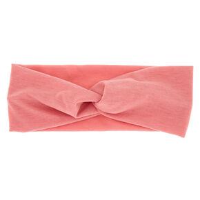 Wide Jersey Twisted Headwrap - Light Rose,