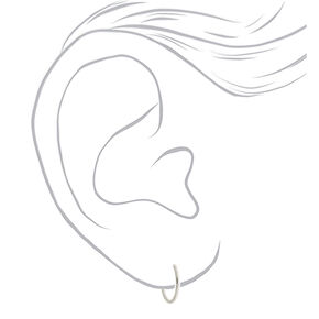 Sterling Silver Graduated Hoop Earrings - 3 Pack,