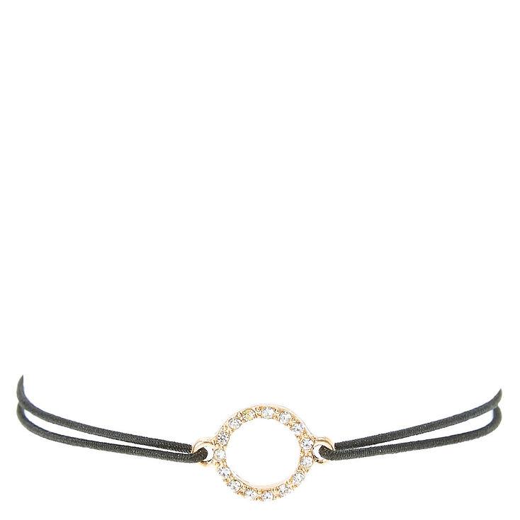 Black Double Stretch Bracelet with Pendant,