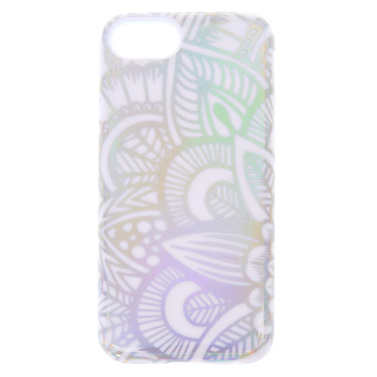 White Holographic Mandala Protective Phone Case - Fits iPhone X/XS,
