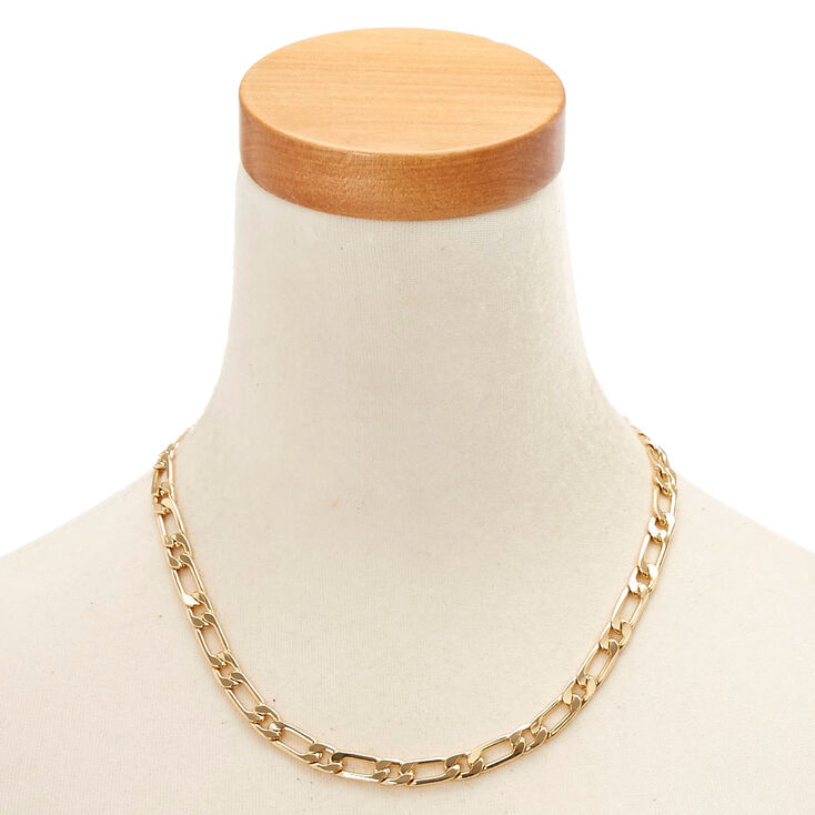 Gold-Tone Standard Chain Necklace,