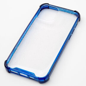 Navy Glitter Clear Phone Case - Fits iPhone 12/12 Pro,