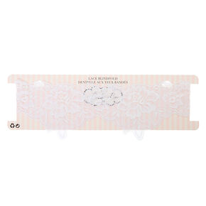 Lace Blindfold - White,