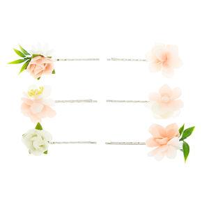 Bridal Flower Hair Pins - Blush Pink,
