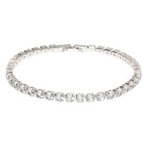 Silver Cubic Zirconia Tennis Bracelet,