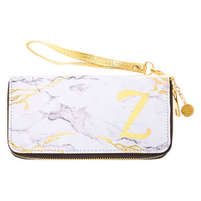 Marble Initial Wristlet - Z,