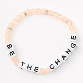 Be the Change Beaded Stretch Bracelet Set - 3 Pack,