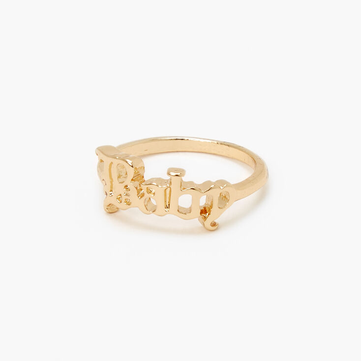 Gold Old English Baby Ring,