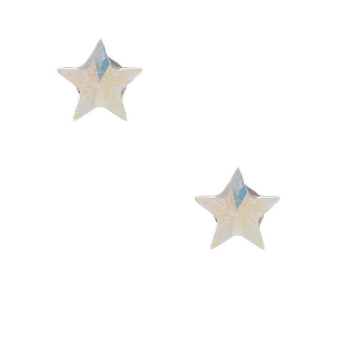 Sterling Silver 5MM Swarovski® Elements Star Earrings,