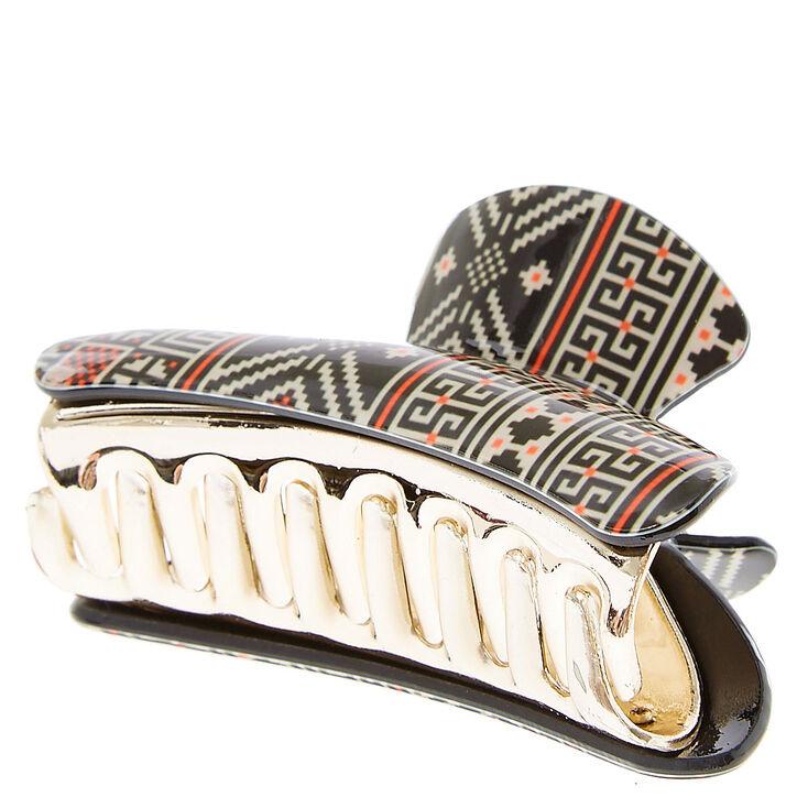 Aztec Print Hair Claw,