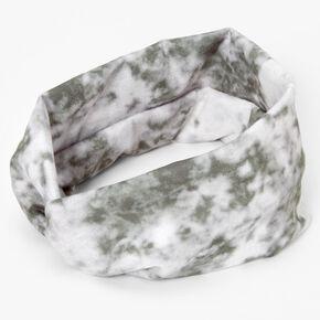 Tie Dye Headwrap - Olive,