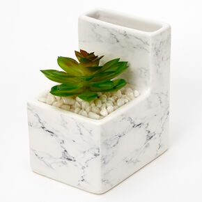 Marble Cactus Planter Pencil Cup,