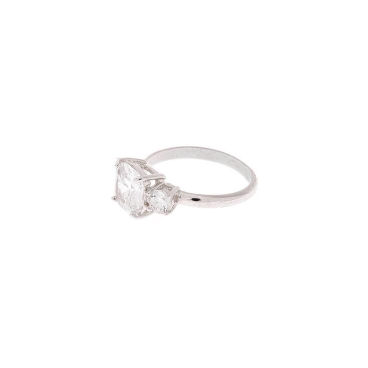 Silver Royal Engagement Ring,