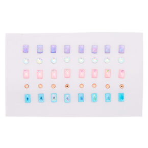 Pastel Circle & Square Mini Skin Gems - 40 Pack,