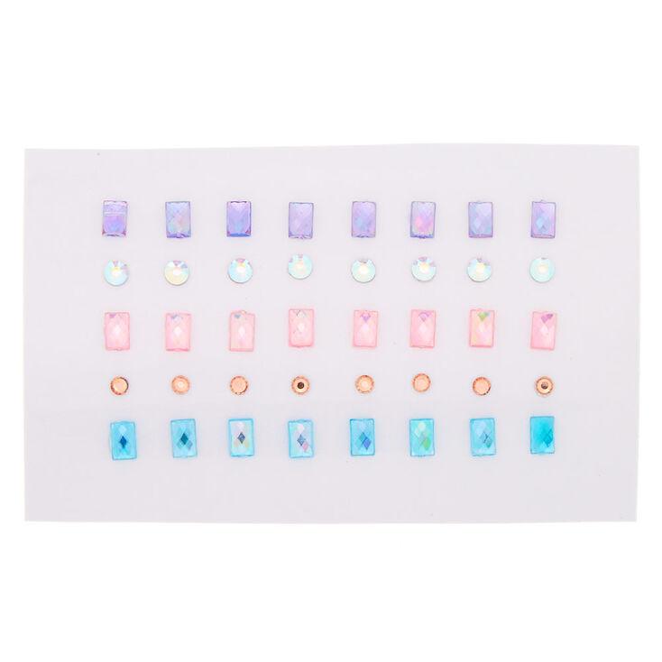 Pastel Circle & Square Mini Skin Gems - 40 Pack,