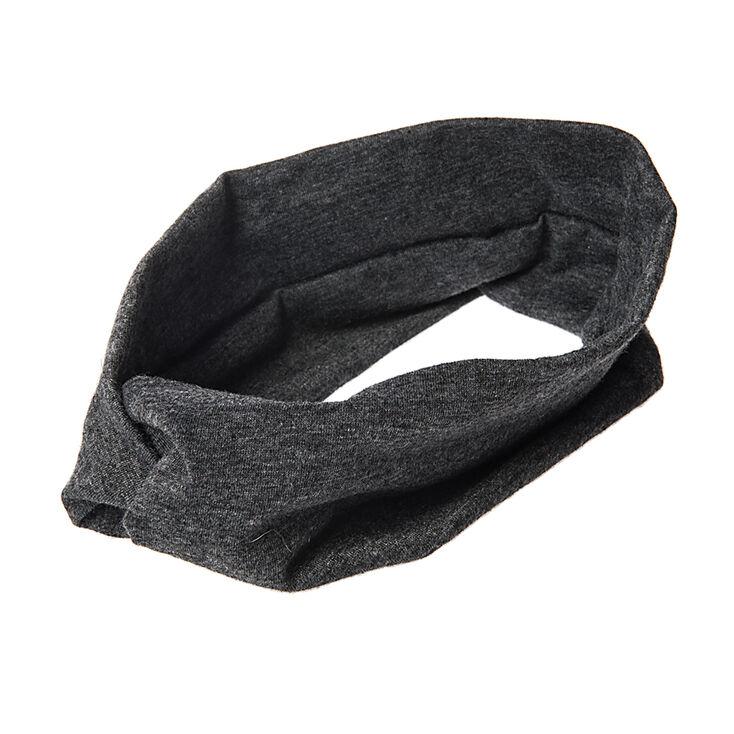 Charcoal Gray Jersey Turban Headwrap,