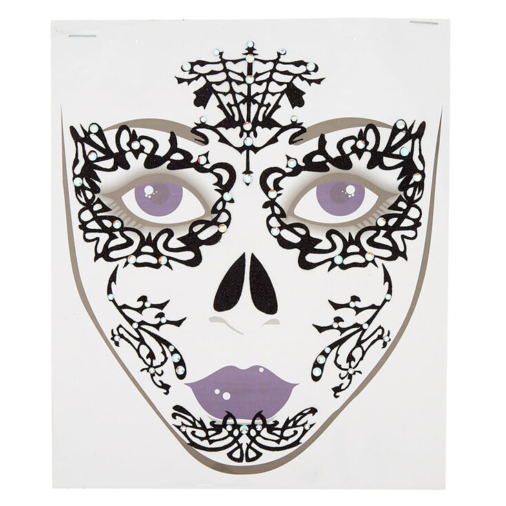 Lace Face Tattoos - Black,