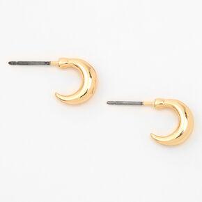 Gold 10MM Half Hoop Earrings,