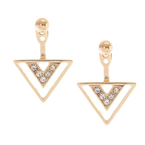 Gold-Tone Geometric Ear Jacket,