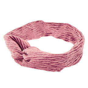 Velvet Twisted Headwrap - Blush Pink,