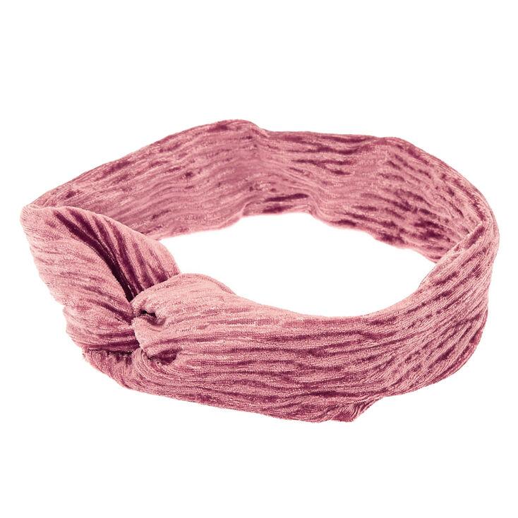 Velvet Twisted Headwrap - Blush Pink,