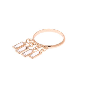 Rose Gold Chandelier Ring,