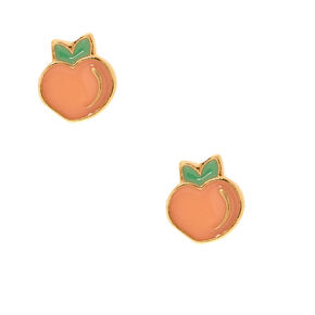 18kt Gold Plated Peach Stud Earrings,