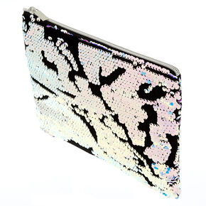 Velvet Reversible Sequin Makeup Pouch - Purple,
