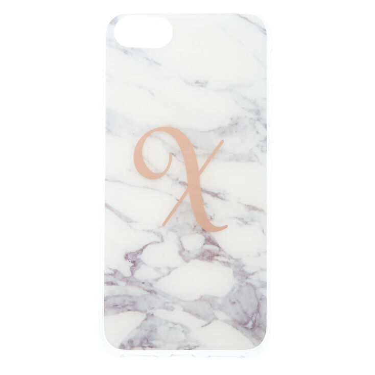 Marble X Initial Phone Case - Fits iPhone 6/7/8,