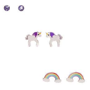 Sterling Silver Unicorn Dreams Earrings,